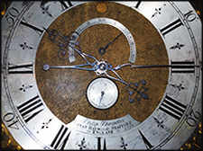 A closeup image of the WAI grandfather clock.